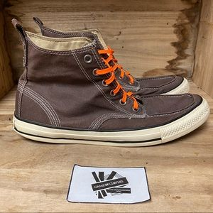 Converse high top canvas brown sneakers shoes